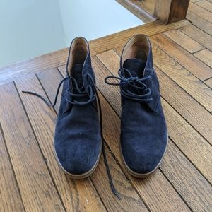 Franco Sarto Navy Blue suede shoes *worn once*